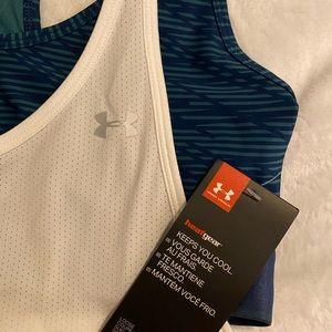 Under Armour workout tank with workout bra